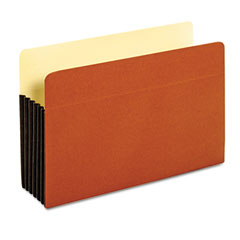 Globe-Weis 64274 Drop Front Expanding File Pocket, Top Tab, 5 1/4 Inch, Legal, Brown, 10/Box