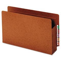 Globe-Weis 64780 Heavy-Duty Expanding File Pocket, End Tab, 3 1/2 Inch, Legal, Brown, 10/Box