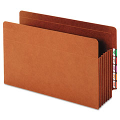 Globe-Weis 64790 Heavy-Duty Expanding File Pocket, End Tab, 5 1/4 Inch, Legal, Brown, 10/Box
