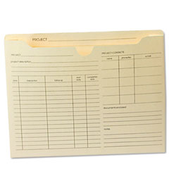Globe-Weis B3143DT Preprinted Expanded Project Jackets, Letter, 11 Point Manila, 50/Box