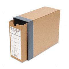 "Globe-Weis B50H Recycled Fiberboard Binding Case, 11 X 8-1/2, 3-1/8"" Capacity, Kraft"