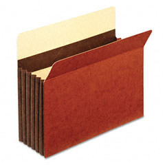 Globe-Weis C1534GHD 5 1/4 Inch Expansion Accordion Pocket, Straight Cut, Letter, Redrope, 10/Box