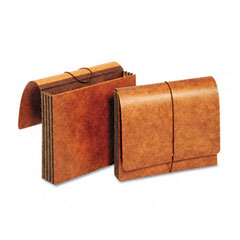 Globe-Weis CL1053ELHD 3 1/2 Inch Expansion Accordion Wallets, Straight, Redrope, Letter, Brown
