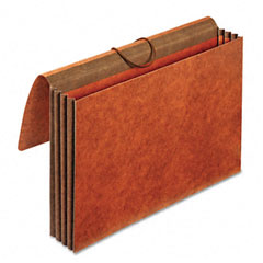 Globe-Weis CL1056ELHD 3 1/2 Inch Expansion Accordion Wallet, Straight, Redrope, Legal, Brown