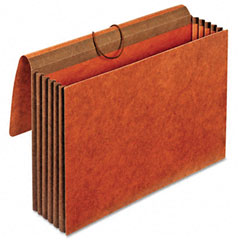 Globe-Weis CL1076GLHD 5 1/4 Inch Expansion Accordion Wallets, Straight, Redrope, Legal, Red