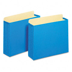 Globe-Weis FC1524EBLU 3 1/2 Inch Expansion File Cabinet Pockets, Straight, Letter, Blue, 10/Box