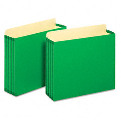 Globe-Weis FC1524EGRE 3 1/2 Inch Expansion File Cabinet Pockets, Straight, Letter, Green, 10/Box