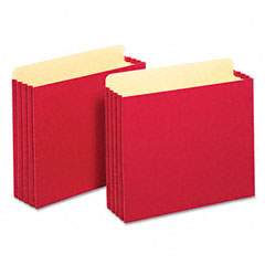 Globe-Weis FC1524ERED 3 1/2 Inch Expansion File Cabinet Pockets, Straight, Letter, Red, 10/Box