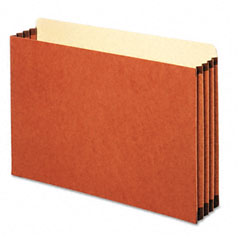 Globe-Weis FC1526E 3 1/2 Inch Expansion File Cabinet Pocket, Straight, Legal, Redrope, 10/Box