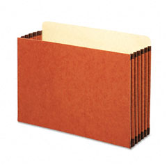 Globe-Weis FC1536G 5 1/4 Inch Expansion File Cabinet Pocket, Straight, Legal, Redrope, 10/Box