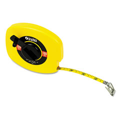 "Great Neck 100E English Rule Measuring Tape, 3/8"" W X 100Ft, Steel, Yellow"
