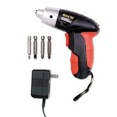 Great neck - 4.8v cordless screwdriver, 4 bits, 200rpm, sold as 1 ea