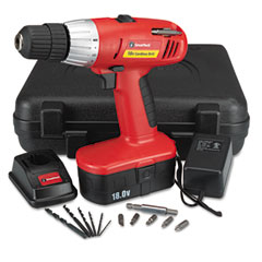 "Great Neck 80133 Great Neck 18 Volt 2 Speed Cordless Drill, 3/8"" Keyless Chuck"