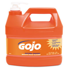 Gojo 0945-04 Natural Orange Smooth Hand Cleaner, 1 Gal, Pump Dispenser,Citrus Scent, 4/Carton
