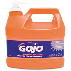 Gojo 0955-04CT Natural Orange Pumice Hand Cleaner, Orange Citrus, 1 Gal Pump, 4/Carton