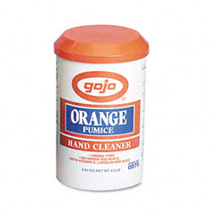 Gojo 0975-06CT Orange Pumice Hand Cleaner, Orange Scent, 4.5Lb Tub, 6/Carton