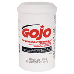 Gojo 1115 Original Formula Hand Cleaner, 4.5 Lb, White, 6/Carton