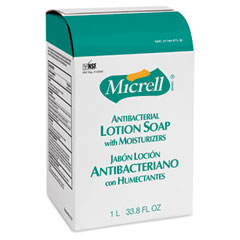 Gojo 2157-08CT Micrell Nxt Antibacterial Lotion Soap Refill, Light Scent, 1000Ml, 8/Carton