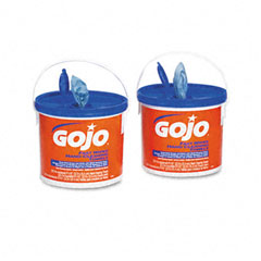 Gojo 6299-02CT Fast Wipes Hand Cleaning Towels, Cloth, 9 X 10, White, 225/Bucket, 2/Carton