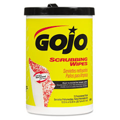 Gojo GOJ639606 Scrubbing Wipes, Heavy Duty Hand Cleaning, 10 1/2 x 12 1/4, 72/Canister