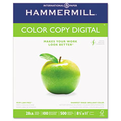 Hammermill - color copy paper, 100 brightness, 28lb, 8-1/2 x 11, photo white, 500/ream, sold as 1 rm