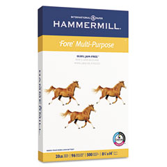 Hammermill - fore mp multipurpose paper, 96 brightness, 20 lb, 8-1/2 x 14, white, 500/ream, sold as 1 rm