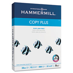 Hammermill - copy plus copy paper, 92 brightness, 20lb, 8-1/2 x 11, white, 5000 sheets/carton, sold as 1 ct