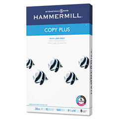 Hammermill - copy plus copy paper, 92 brightness, 20lb, 8-1/2 x 14, white, 500 sheets/ream, sold as 1 rm