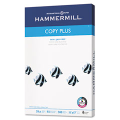 Hammermill - copy plus copy paper, 92 brightness, 20lb, 11 x 17, white, 500 sheets/ream, sold as 1 rm