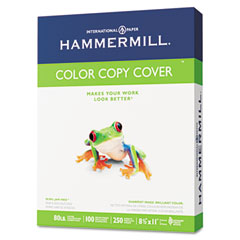Hammermill - color copy digital cover stock, 80 lbs., 8-1/2 x 11, white, 250 sheets, sold as 1 pk