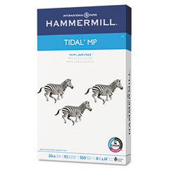 Hammermill - tidal mp copy paper, 92 brightness, 20lb, 8-1/2 x 14, white, 500 sheets/ream, sold as 1 rm