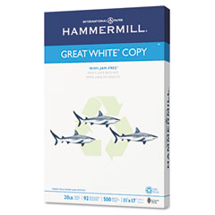 Hammermill 86750 Great White Recycled Copy Paper, 92 Brightness, 20Lb, 11 X 17, 500 Sheets/Ream