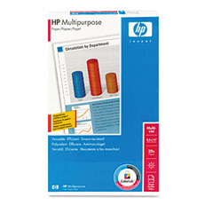 Hp 00142-0 Multipurpose Paper, 96 Brightness, 20Lb, 8-1/2 X 14, White, 500 Sheets/Ream