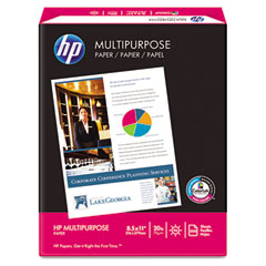 Hp - multipurpose paper, 96 brightness, 20lb, 8-1/2 x 11, white, 500 sheets/ream, sold as 1 rm