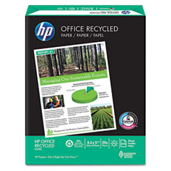 Hp 11210-0 Office Recycled Paper, 92 Brightness, 20Lb, 8-1/2 X 11, White, 5000 Shts/Ctn