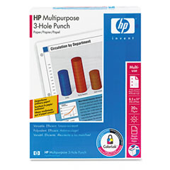 Hp 11310-1 Multipurpose Paper, 96 Brightness, 3-Hole Punched, 20Lb, Ltr, White, 500/Ream