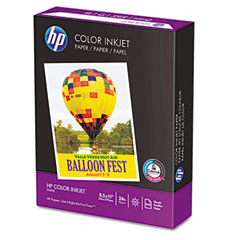 Hp 20200-0 Color Inkjet Paper, 96 Brightness, 24Lb, 8-1/2 X 11, White, 500 Sheets/Ream