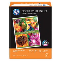 Hp 20300-0 Bright White Inkjet Paper, 97 Brightness, 24Lb, 8-1/2 X 11, 500 Sheets/Ream