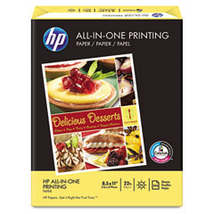 Hp - all-in-one printing paper, 96 brightness, 22lb, 8-1/2 x 11, white, 500 shts/ream, sold as 1 rm