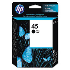 Hewlett-Packard HEW51645A 51645A (HP 45) Ink, 830 Page-Yield, Black
