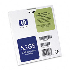 "Hp 88147J Magneto Optical Disk, 5.25"", 5.2Gb, 2,048 Bytes/Sector, Rewritable"