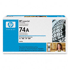 Hewlett-Packard HEW92274A 92274A (HP 74A) Toner, 3350 Page-Yield, Black