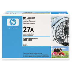 Hewlett-Packard HEWC4127A C4127A (HP 27A) Toner, 6000 Page-Yield, Black