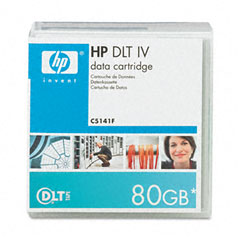 "Hp C5141F 1/2"" Dlt-4 Cartridge, 1828Ft, 20Gb Native/40Gb Compressed Capacity"