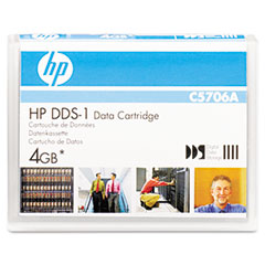 "Hp C5706A 1/8"" Dds-1 Cartridge, 90M, 2Gb Native/4Gb Compressed Capacity"