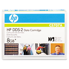 "Hp C5707A 1/8"" Dds-2 Cartridge, 120M, 4Gb Native/8Gb Compressed Capacity"