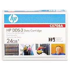 "Hp C5708A 1/8"" Dds-3 Cartridge, 125M, 12Gb Native/24Gb Compressed Capacity"