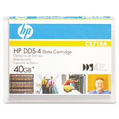 "Hp C5718A 1/8"" Dds-4 Cartridge, 150M, 20Gb Native/40Gb Compressed Capacity"