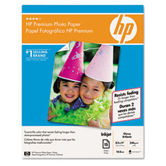 Hp C6039A Premium Photo Paper, 64 Lbs., Glossy, 8-1/2 X 11, 15 Sheets/Pack