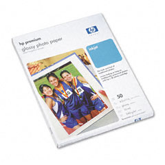 Hp C6979A Premium Photo Paper, 64 Lbs., Glossy, 8-1/2 X 11, 50 Sheets/Pack